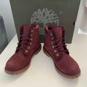 "Timberland waterville 6"" waterproof boot burgundy"